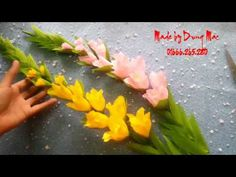 How To Make Wistaria Flower From Crepe Paper - Craft Tutorial - YouTube