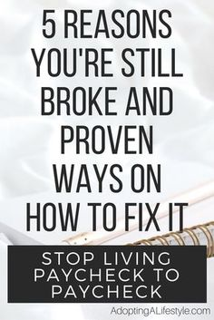5 Reasons you're still Broke and Proven Ways on How to Fix it Budgeting Finances, Budgeting Tips, Money Tips, Money Saving Tips, Money Plan, Money Hacks, Financial Tips, Financial Planning, Financial Peace