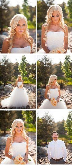 wedding hair, similar to how I want mine!