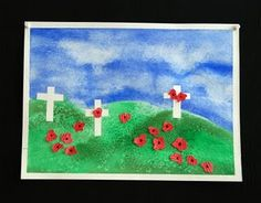 Remembrance Day Art - tape and salt