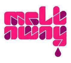 70s Fushia Pink & Purple - Meltaway - mod typeface font logo Fuchsia