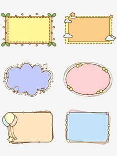Doodle Frames, Simple Borders, Borders And Frames, Borders Free, Easy Frame, Round Frame, Journal Stickers, Planner Stickers, Logo Atelier