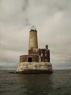 Abandoned lighthouse  Waugoshance Light, Michigan, USA