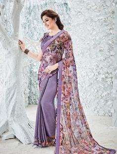 Buy Light Purple Saree from shayona junction.Leading online store to buy latest designer sarees and designer sari online USA,India.