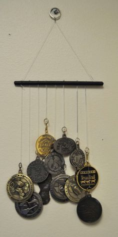 DIY Medal Wind Chimes! I could totally do this with some of the religious medals I collect