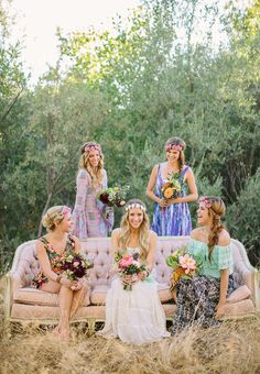 Boho wedding inspiration, outdoor