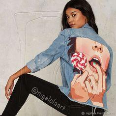 """Купить Джинсовая куртка с рисунком """"Череп"""" в интернет магазине на Ярмарке Мастеров Купить Джинсовая куртка с рисунком - рисунок, джинсовая куртка, джинсовые шорты, футболка, картинка, принт"""