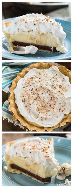 Black Bottom Coconut Cream Pie- everything is better with chocolate!