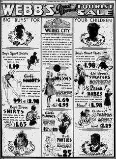 Swampy's #Florida Ads- Webb City, today, March 18th, 1946, St. Petersburg Times.- http://swampysflorida.com/?p=9821