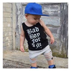 This handsome guy is sporting our •BAD BOY FOR LIFE• tank! 🙌🏻 We only have size 6-12M left in tanks on the site for this design, but, no worries - we're getting ready for fall and just stocked ALL short sleeve sizes in it too! ❤️ • • • • • • #cutekidsclub #igfashion #kidzootd #instagram_kids #trendykiddies #babiesofinstagram #kidzfashion #kidslookbook #kids_stylezz #thechildrenoftheworld #igkiddies #flylittleguy #kidsfashion #toddlerfashion #harrypotter #quidditch #mischief #potterhead…