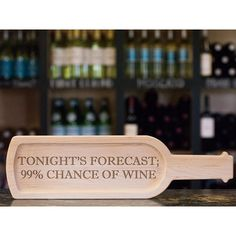 Tonight's forecast at Gourmet & Co is looking great with a good chance of wine! Reservations strongly suggested. And the serving board and others like it can be found in our retail store.