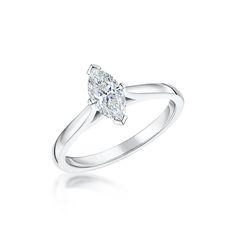 Signature Platinum 0.70ct E VS2 Marquise Cut Diamond Ring - love!