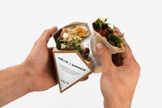 Wrap Packaging Concepts - This Convenient To-To Packaging for Wrap Sandwiches is a Gamechanger (GALLERY)