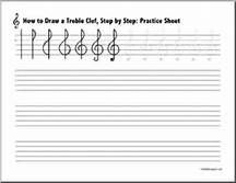 Treble Clef Staff Worksheets - Bing images