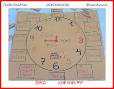 Aprendemos las horas en 2º primaria #juegos