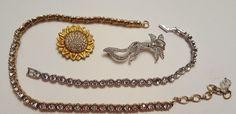 Swarovski Crystal Jewelry Repair Craft Harvest Lot Brooch Necklace Bracelet #crystal #vintage #jewelry #ebay #swarovski