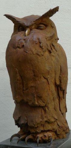 Bronzen uil van Anthon Hoornweg. Alle uilen van Hoornweg zijn prachtig!