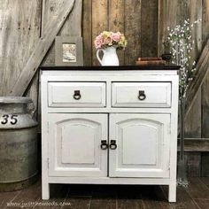 Curious how to paint furniture white? Is there a secret to painting white furniture? This cabinet is given a white paint Painting Wood Furniture White, White Furniture, Paint Furniture, Furniture Makeover, Painting On Wood, Furniture Ideas, Wooden Furniture, Funky Furniture, Antique Furniture