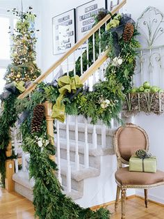 Evergreen garland.