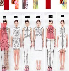 Line Up - fashion sketchbook ideas, design drawings inspiration Fashion Design Sketchbook, Fashion Design Portfolio, Fashion Illustration Sketches, Fashion Sketches, Fashion Line, Fashion Art, Cheap Fashion, Fashion News, Fashion Women