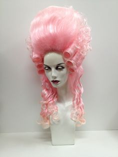 Pink Marie Antoinette Wig #wigs #outfitterswig #pinkhair