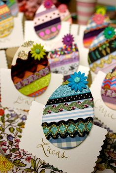 Easter place cards- Crazy Eggs