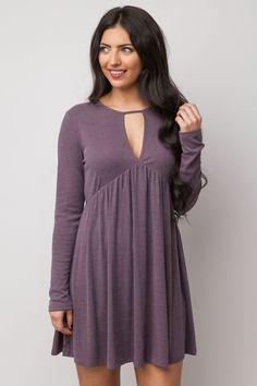 Seasonal Winds Dress in Dusty Purple