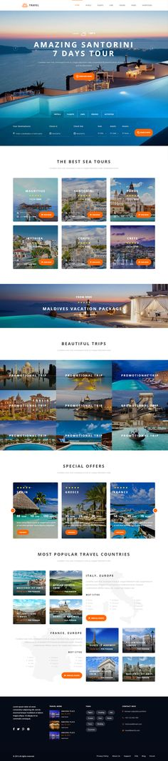 Travel and Tourism Landing Page Concept design
