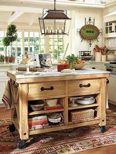 could repurpose a dresser to function like this Kitchen island