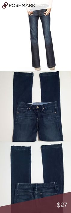 """GAP 1969 Long And Lean Jeans 34"""" Inseam Great classic pair of jeans. Great overall condition with this exception: the bottoms of the legs have wear (see 4th pic). Otherwise there is a small amount of fading and also pilling on the inside.   Company distressed including whiskering at front. 98% cotton, 2% spandex.  """"Medium Tint"""" wash This style is no longer available online as of this listing.  Approx 15"""" across at waist, 8 1/4"""" rise, 34"""" inseam, 8"""" leg opening  *NOTE: first pic is a stock…"""