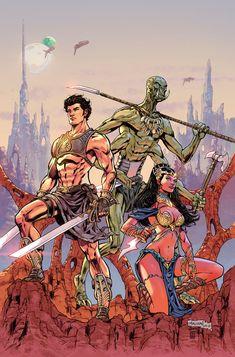 John Carter : Warlord Of Mars # 1 Variant cover 2 by panelgutter on DeviantArt