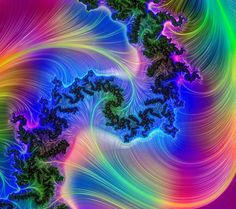 Rainbow Swirl  Digital Art
