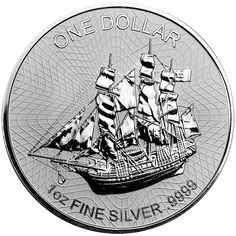 The 2017 Cook Islands Bounty 1oz Silver Coin features an image of the famous sailing vessel, the Bounty, with background lines forming a net design, along with details of the weight, purity and face value.  The reverse of the coin bears the portrait of Her majesty the Queen with the year-date below.  Each coin weighs 31.10g and is 999.9 Fine Silver. Manufactured by the Sunshine Mint, USA. Struck to bullion quality. Dimensions: Diameter: 39.73 mm. Thickness: 2.98 mm.