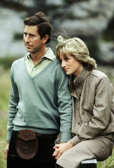 Prince Charles and Princess Diana on their honeymoon in Balmoral.