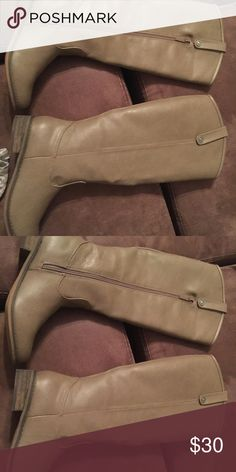 Size 8 Taupe mid calf boots I'm selling my Size 8 mid calf Taupe boots. They are super cute and will go with practically any outfit. Purchased from Mint Juliep Boutique however they were too small in the calf for me. These boots are brand new without the box. Thank you for looking! Shoes Winter & Rain Boots