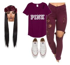 """Untitled #206"" by layyyyyyyy ❤ liked on Polyvore featuring Converse, women's clothing, women's fashion, women, female, woman, misses and juniors"