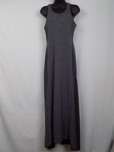 641320174c1 Eddie Bauer Women s Maxi Dress Shelf Bra Racer Back Gray Size Small