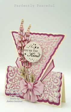 Wedding Cards Handmade, Beautiful Handmade Cards, Fancy Fold Cards, Folded Cards, Homemade Christmas Cards, Wedding Card Templates, Card Making Inspiration, Pretty Cards, Carnations