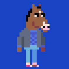 Bojack Horseman #pixelart #animation #character