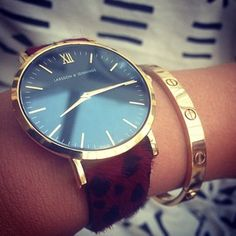 Larson and Jennings watches. Love the black & gold, hate this strap Love Bracelets, Cartier Love Bracelet, Larsson And Jennings Watch, Nail Jewels, Glitz And Glam, Clothes Horse, Fashion Books, Cool Watches, Fashion Watches