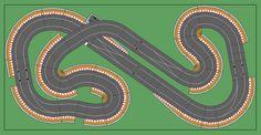New Digital Track Designs - Page 9 - Tracks & Scenery - SlotForum Slot Car Race Track, Ho Slot Cars, Slot Car Racing, Slot Car Tracks, Drag Racing, Race Tracks, Scalextric Digital, Scalextric Track, Carrera Slot Cars