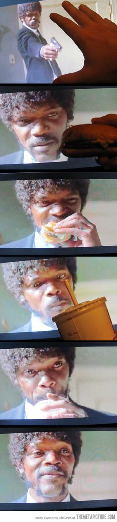 """Now thats a tasty burger...""""And I will strike down upon thee with great vengeance and furious anger those who attempt to poison and destroy my brothers. And you will know my name is the Lord when I lay my vengeance upon you!"""""""