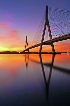 Birdge At Sunset Bridge over sunset