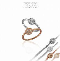 Anelli realizzati in argento e zirconi. E tu...quale colore preferisci, rosè o silver? www.fogigioielli.it  #madeinitaly #jewelry #jewels #anello #fogisilver #fogi #silver #argento #ring #zirconi #bijoux