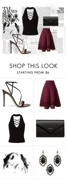 """""""#162"""" by abbie-21 ❤ liked on Polyvore featuring Gianvito Rossi, Miss Selfridge, Balenciaga and Vanity Fair"""