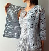 Ravelry: Irene - floral lace yoke cardigan pattern by Vicky Chan