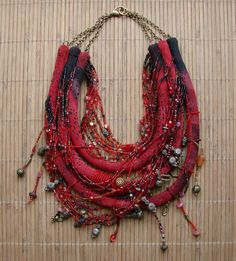 Collier valse tzigane - rouge andalou