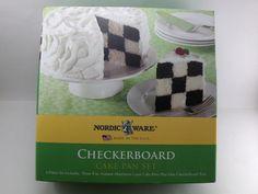 Nordic Ware Checkerboard Cake Pan Set NOS Aluminum Bakeware Ring Tool Checkerboard Cake, Nordic Ware, Pan Set, Bakeware, Cake Pans, Ring, Chess Cake, Rings, Cake Shapes