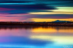 Cherry Creek State Park, Colorado, USA A Wash Of Color by kkart