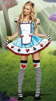 € 18,66 Halloween trajes de fantasia Alice in Wonderlance / francês da empregada…